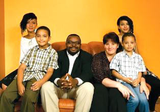 John Godson with his family